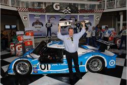 Victory lane: Chip Ganassi celebrates