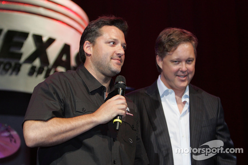 Tony Stewart, Stewart-Haas Racing and Brian France, NASCAR Chairman and CEO