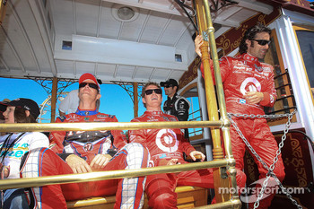 Ryan Hunter-Reay, Andretti Autosport, Scott Dixon, Target Chip Ganassi Racing, Dario Franchitti, Target Chip Ganassi Racing