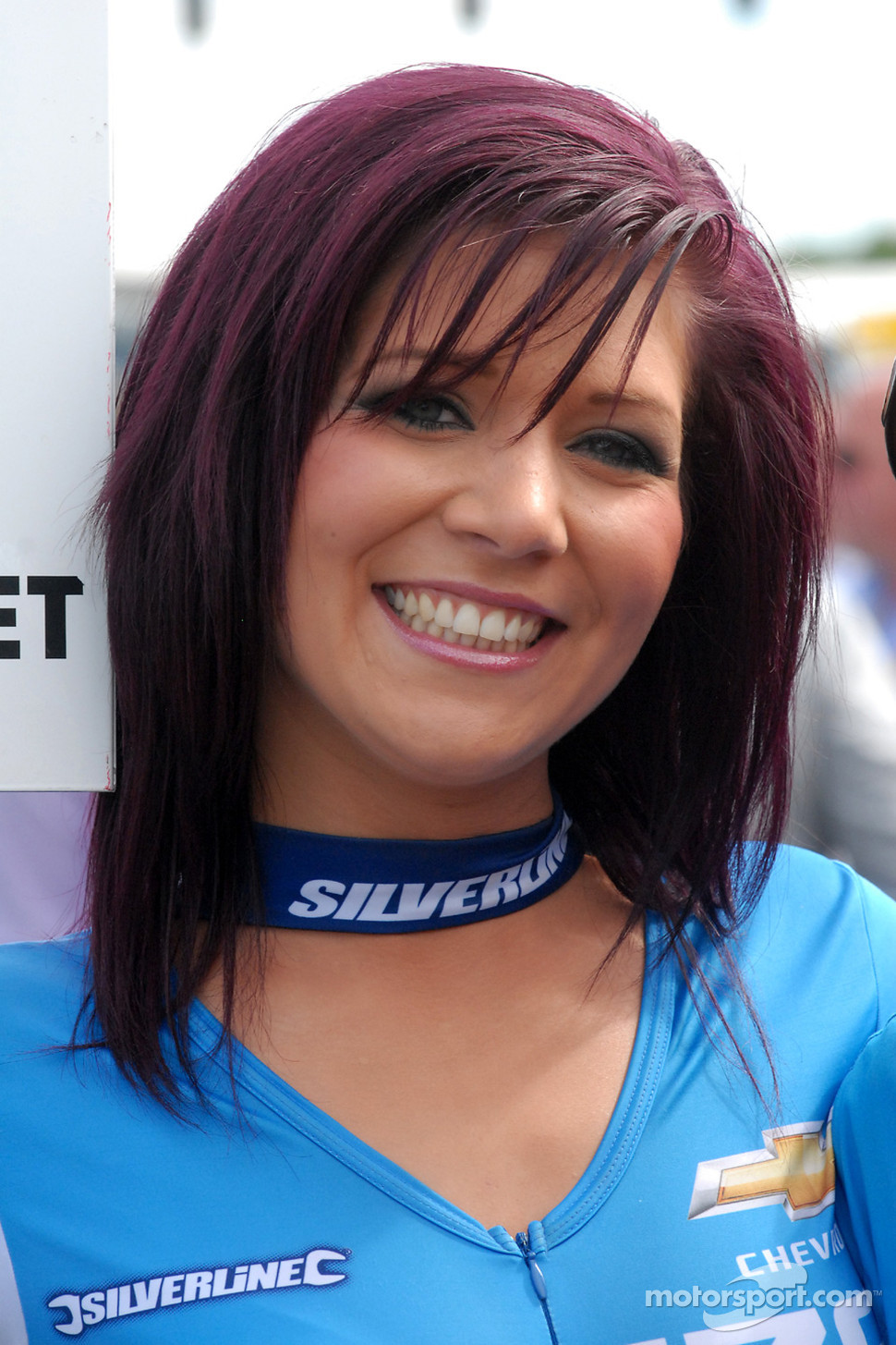 Caroline Hall; grid girl to Jason Plato