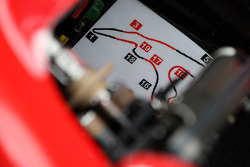 Track map in cockpit of Felipe Massa, Scuderia Ferrari