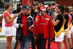 Rubens Barrichello, Williams F1 Team and Felipe Massa, Scuderia Ferrari
