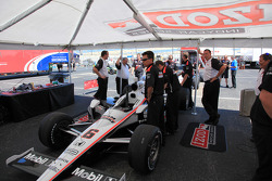 Car of Ryan Briscoe, Team Penske at technical inspection