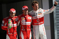 Felipe Massa, Scuderia Ferrari, Fernando Alonso, Scuderia Ferrari, Jenson Button, McLaren Mercedes