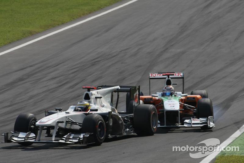 Pedro de la Rosa, BMW Sauber F1 Team and Adrian Sutil, Force India F1 Team