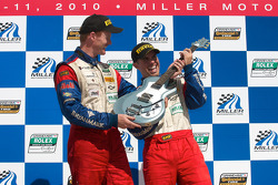 GT podium: class winners Andrew Davis and Robin Liddell