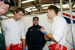 Leo Mansell and Greg Mansell with Nigel Mansell