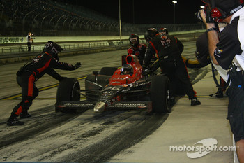 Pit stop for Marco Andretti, Andretti Autosport, splash and go