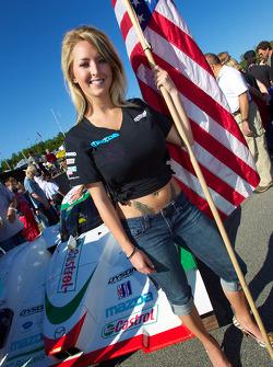 A charming flag girl
