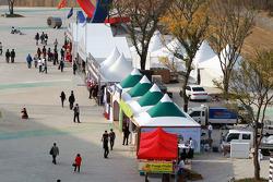 Fans merchandise area