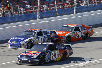 Kasey Kahne, Red Bull Racing Team Toyota, Marcos Ambrose, JTG Daugherty Racing Toyota and Joey Logano, Joe Gibbs Racing Toyota