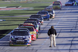 NASCAR Sprint Cup teams wait to practice