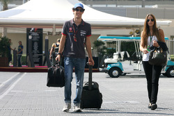 Bruno Senna, Hispania Racing F1 Team and his girlfriend
