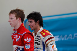 Sergio Perez and Oliver Turvey