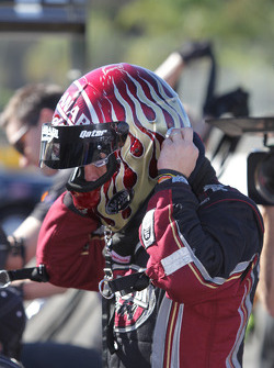 Larry Dixon moments after wiining his 5th top fuel championship