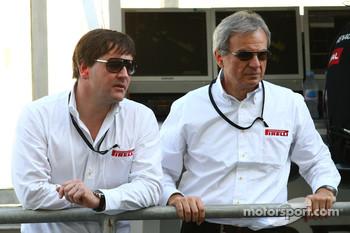 Paul Hembery, Pirelli Motorsport Director and Maurizio Boiocchi, Pirelli R&D director