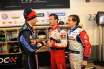 Sebastian Vettel, Sbastien Loeb and Alain Prost