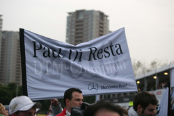 Championship flag for Paul di Resta, Team HWA AMG Mercedes C-Klasse