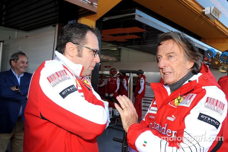 Luca di Montezemolo and Stefano Domenicali