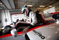 Podium: race winner Jules Bianchi, second place Romain Grosjean, third place Davide Valsecchi