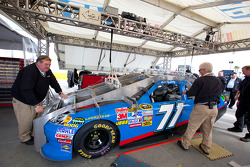 Car of Andy Lally, TRG Motorsports Chevrolet at technical inspection