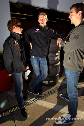 Patrick Long, Jörg Bergmeister and Oliver Gavin