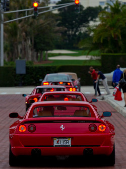 A pack of Ferrari heads to the street
