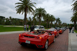 A pack of Ferrari heads to the streets of West Palm Beach