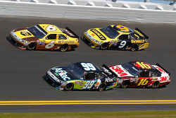 David Ragan, Roush Fenway Racing Ford, Carl Edwards, Roush Fenway Racing Ford, Greg Biffle, Roush Fenway Racing Ford, Marcos Ambrose, Petty Motorsport Ford
