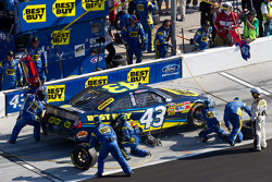 Pit stop for A.J. Allmendinger, Richard Petty Motorsports Ford