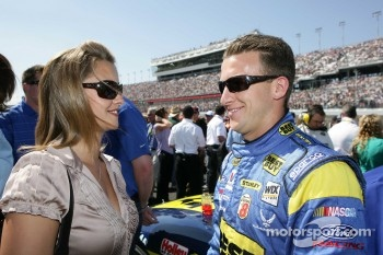 A.J. Allmendinger, Richard Petty Motorsports Ford withis wife Lynn