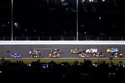 James Buescher, Turner Motorsport Chevrolet leads the field