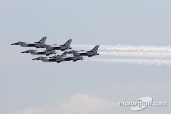 Flyover by the Thunderbirds