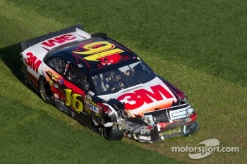 Greg Biffle, Roush Fenway Racing Ford crashes