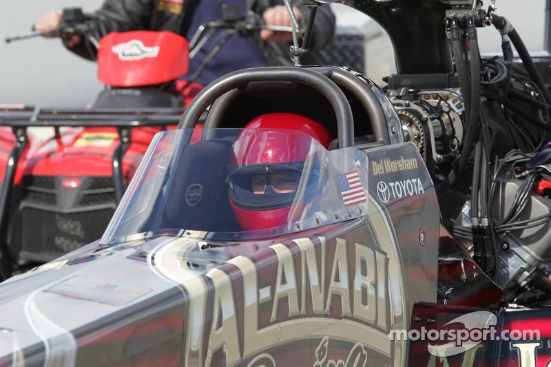 Del Worsham in his Al Annabi Racing Top Fuel Dragster