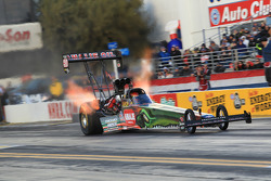 Terry McMillian during round 4 of qualifying aboard his Amalie Oil /Wolverine Top Fuel Dragster