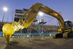 The Phoenix International Raceway start the repaving for the new track after the race