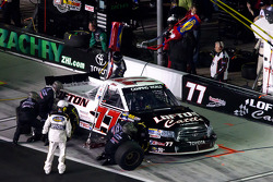 Pit stop for Justin Lofton, Germain Racing Toyota