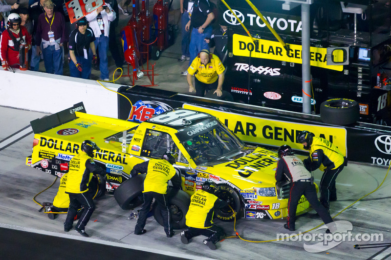 Pit stop for Kyle Busch, Kyle Busch Motorsports Toyota