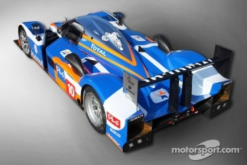 The new 2011 livery on the Team Oreca Matmut Peugeot 908 HDi FAP