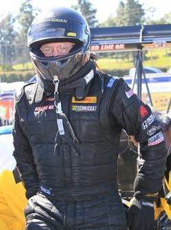Doug Kalitta exiting his Kalitta Air Top Fuel Dragster