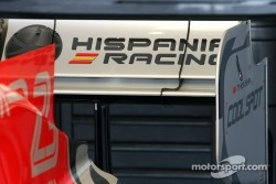 Hispania Racing F1 Team unveils the new F111, technical detail, rear wing