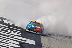 Race winner Kyle Busch, Joe Gibbs Racing Toyota celebrates