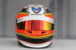 Helmet of Jérôme d'Ambrosio, Virgin Racing