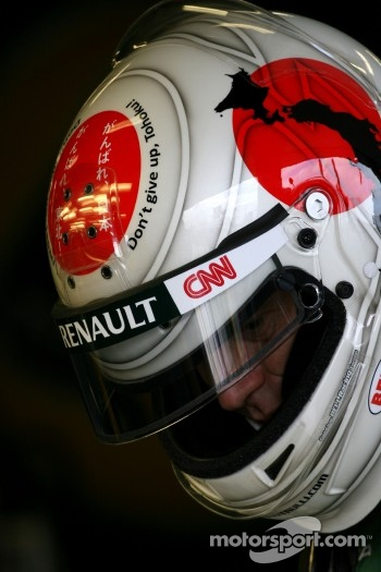 Jarno Trulli, Team Lotus pay tribute to Japan with new helmet