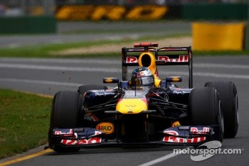 Sebastian Vettel on pole with the Red Bull RB7