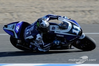 Ben Spies, Yamaha Factory Racing, went seventh fastest in today's practice sessions.