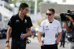 Esteban Ocon, Renault Sport F1 Team Test Driver with Stoffel Vandoorne, McLaren Test and Reserve Driver