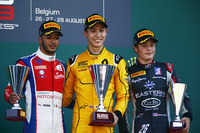 GP3 Foto - Podium: winner Jack Aitken, Arden International, second place Antonio Fuoco, Trident, third place Santino Ferrucci, DAMS