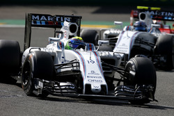 Felipe Massa, Williams FW38 Mercedes, leads Valtteri Bottas, Williams FW38 Mercedes